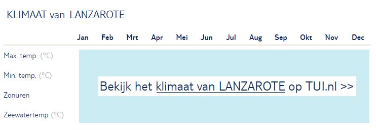 Klimaat van Lanzarote