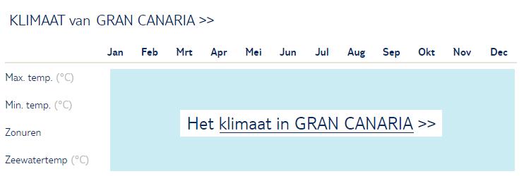 Klimaat Gran Canaria