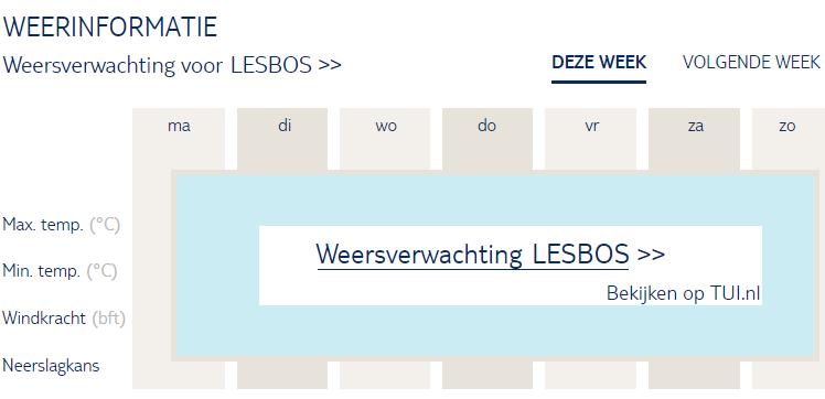 Weersverwachting Lesbos