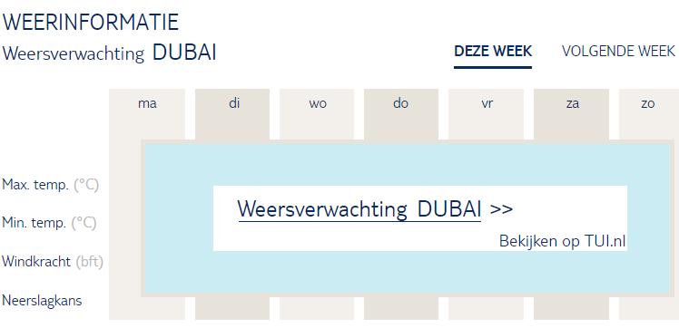 Weersverwachting Dubai