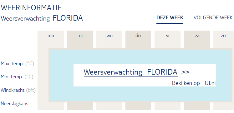 Weersverwachting Florida