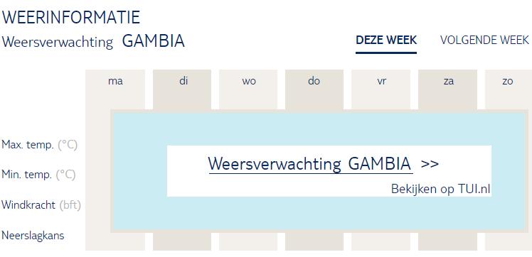 Weersverwachting Gambia